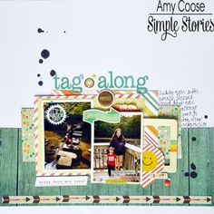 Tag Along - Scrapbook.com - Made with Simple Stories Summer Vibes collection.