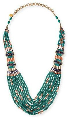 "Devon Leigh Turquoise & Coral Long Beaded Necklace, 38"" https://api.shopstyle.com/action/apiVisitRetailer?id=494825008&pid=uid2500-37484350-28"