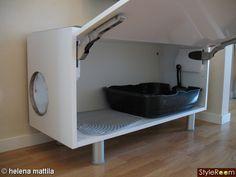 Inspirerande bilder på bits Cat Furniture, Furniture Makeover, Diy Cat Tower, Cat Tree Plans, Pet Station, Cat House Diy, Cat Shelves, Animal Room, Cat Room