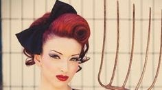 Pinup Swirl Vintage Inspired Hairstyle, via YouTube.