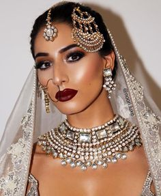 Dewy makeup for a south asian bride