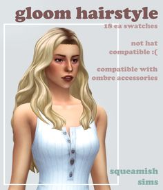 🌿The Sims 4 MM — squeamishsims: gloom hairstyle by squeamishsims...