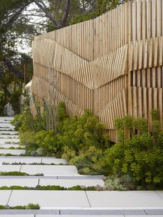 Garden Fences Ideas – Greenest Way Facade Design, Fence Design, Exterior Design, Garden Design, Landscape Walls, Landscape Design, Pergola, Wooden Facade, Fence Screening