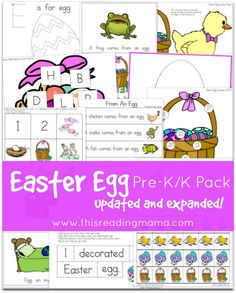FREE Easter Egg Pre-K/K Pack {Updated and Expanded}   This Reading Mama