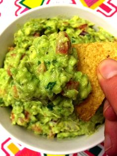 Easy Guacamole Recipe – Best Ever Authentic Mexican Restaurant-Style! - - This easy guacamole recipe makes authentic Mexican guacamole that's the best ever! I'll never make guacamole any other way! Guacamole Salsa, Fresh Guacamole, How To Make Guacamole, Avocado Dip, Chunky Guacamole Recipe, Authentic Guacamole Recipe, Best Guacamole Recipe, Mexican Dishes, Sauces
