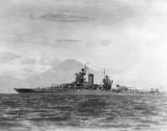 August 1945: USS New Mexico BB-40 seen in Sagami Bay with Mt. Fuji in the background. MaritimeQuest - Seaman 1st Class Elmer Alfred Bishop, USNR Collection Page 13