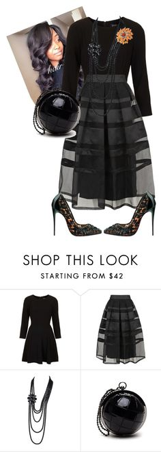 """""""District Meeting"""" by cogic-fashion ❤ liked on Polyvore featuring mode, Topshop, Temperley London, Christian Louboutin, Chanel en NOVICA"""