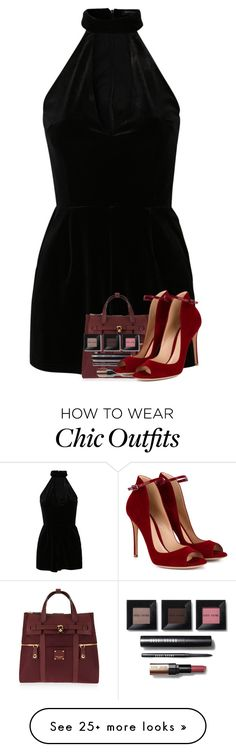 """""""Love of Rompers: Sweet Divinity (#27)"""" by iamdollie on Polyvore featuring New Look, Henri Bendel, Bobbi Brown Cosmetics and Gianvito Rossi"""