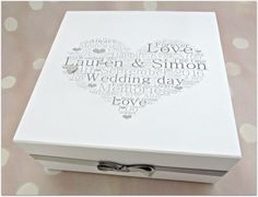 Wedding Keepsake Or Memory Box | Wedding keepsakes, Keepsakes and Box