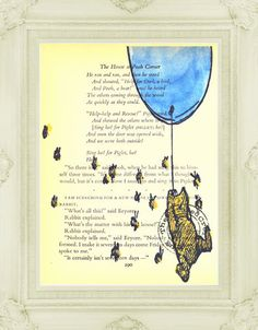 Winnie the Pooh Genuine Vintage Book Page with E H Shepard Illustration