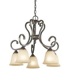 Kichler Lighting 43176OZ Feville 5-Light Chandelier with Light Umber Etched Glass, Olde Bronze Finish Kichler Lighting http://www.amazon.com/dp/B008F9ZS3W/ref=cm_sw_r_pi_dp_hXmtwb0GE7C1Y $87