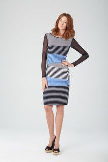 Harbourside-Blues-Dress-Ink-10508O-6102 Tribal Fashion, Womens Fashion, Blue Dresses, Dresses For Work, Tribal Outfit, Blue Springs, Spring Looks, Fashion Today, Spring Summer 2015