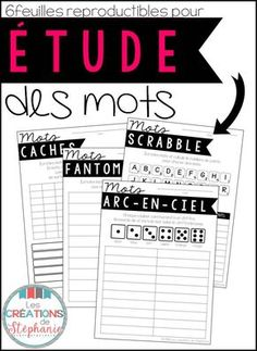 Reasons Why You Should Learn French French Teaching Resources, Teaching French, Teaching Ideas, Vocabulary Activities, Writing Activities, Language Activities, Word Study, Word Work, French For Beginners