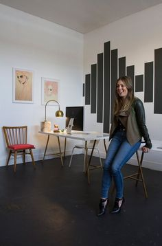 Wall art - Matte Black's Hollywood Glam Workspace  Workspace Tour