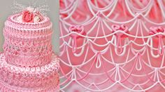 Unless you're a cake connoisseur of the decorating kind, it is unlikely that you've heard of piping stringwork. But don't worry, after this gallery you're going to wish you knew about this amazing . Piping Icing, Cake Icing, Frosting, Cake Decorating Piping, Spirograph, Hand Pipes, Amazing Wedding Cakes, 2015 Wedding Dresses, Royal Icing