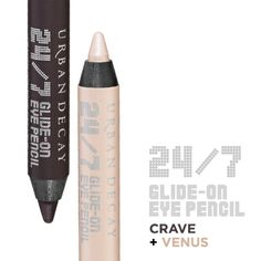Naked 24/7 Glide-On Double Ended Eye Pencil by Urban Decay - $16, Crave and Venus plz