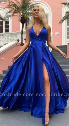 Wanna Prom Dresses,Evening Dresses in Stretch Satin,Elastic Silk-like Satin, A-line style, and delicate Split Front work? Babyonlinewholesale has all covered on this elegant Cheap Spaghetti Strap Shiny Royal Blue Prom Dress with High Split Royal Blue Prom Dresses, Backless Prom Dresses, Sweet 16 Dresses, A Line Prom Dresses, Sweet Dress, Dance Dresses, Cheap Prom Dresses, Evening Dresses, Bridesmaid Dresses