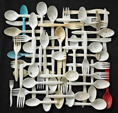 This would be cool in my kitchen done with real silverware.