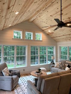 Tongue and Groove Gallery — Kentucky Lumber Family Room Addition, Sunroom Addition, Four Seasons Room, Screened Porch Designs, Three Season Room, Sunroom Decorating, Room Additions, My New Room, My Dream Home
