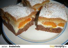 Meruňkové řezy recept - TopRecepty.cz Blue Cheese, Nutella, Sandwiches, French Toast, Appetizers, Pudding, Treats, Fruit, Breakfast