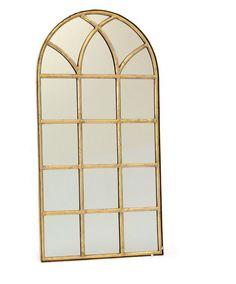 "- Go Home Verandah Mirro - Dimensions: 28.25"" W x 50"" H - Material: Antique Brass"