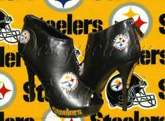steelers high heels  | Ladies Pittsburgh Steelers Shoes Platform Boots Size 9 | eBay