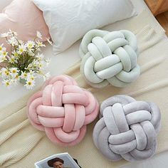 Creative Home Colourful Knot Cushion Pillow Sofa Cushions Cute Pillows, Baby Pillows, Colorful Pillows, Decor Pillows, Throw Pillows, Knot Cushion, Knot Pillow, Cushion Pillow, Fur Pillow