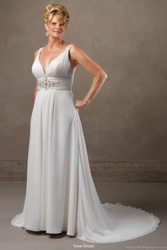 Wedding Dresses For Plus Size | Beautiful wedding dress for plus-sized brides by Venus Bridals - V ...