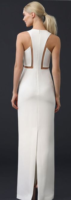 Sophisticated Lady all dressed up in White. Moda Fashion, High Fashion, Do It Yourself Fashion, Fashion Details, Fashion Design, Mode Style, Dress Patterns, Blouse Designs, Designer Dresses