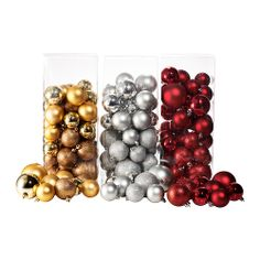 SNÖMYS Decorative ornament, set of 50 - IKEA $9.99 for set of 50 ornaments of varying size.