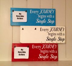 Race bib running medal holder and display by TheBarnWoodSign