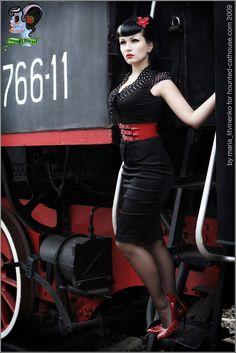 Lonesome Trian III by ~LadyVampyrica on deviantART #rockabilly #gothabilly #pinup
