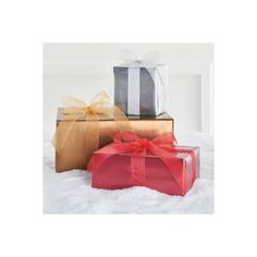 Grandin Road Christmas Professional Gift Wrap - Silver ($199) ❤ liked on Polyvore featuring home, home decor, holiday decorations, christmas wrapping paper, christmas home decor, grandin road, christmas holiday decorations and xmas gift wrap