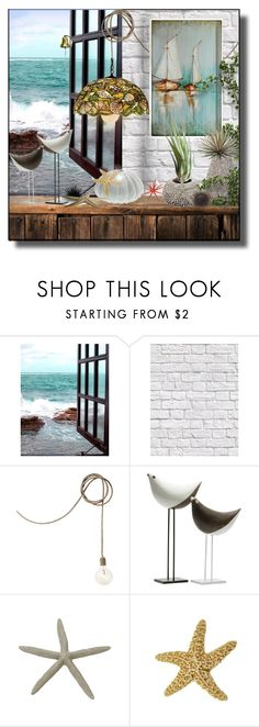 """Urchin sea life"" by suelb ❤ liked on Polyvore featuring interior, interiors, interior design, home, home decor, interior decorating, Milton & King and Bitossi"