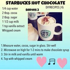 DIY starbucks hot chocolate :)
