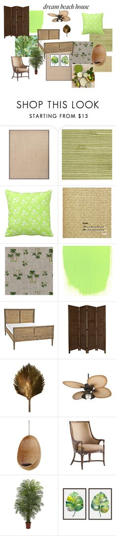 """Beach House Among The Palms"" by canoe-communicationsblog ❤ liked on Polyvore featuring interior, interiors, interior design, home, home decor, interior decorating, Jaipur, Versace, Designers Guild and Burke Decor"