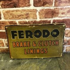 FERODO SIGN - AUTOMOBILIA - PETROLIANA - VINTAGE ADVERTISING SIGN - WWW.MATTSAUTOMOBILIA.CO.UK