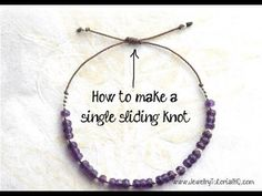 How to Make a Single Sliding Knot Closure {Video} - Jewelry Tutorial Headquarters