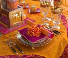 Simple table setting, enough space to eat, and a small gift to each guest as a token of gratitude for their attendance