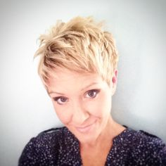 Ultra texturized pieced out pixie cut blonde with lowlights razor cut                                                                                                                                                                                 More