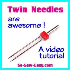 How to use a twin needle including tips for hemming knits and how to use it for decorative stitches.  Great video!