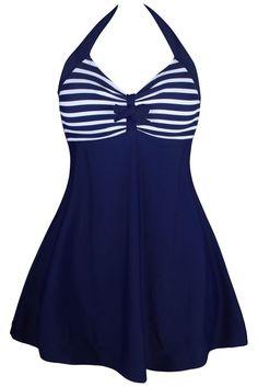 2a516f2a1c6d3 Plus Size 3XL One-piece Swimwear sexy beach wear Girls Swim dress with  bottom bikinis