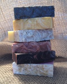 Handpicked Set of 6 Homemade Cold Process Soaps You Choose the types and scents! Save $3