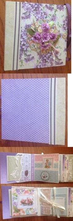 Other Handcrafted Pieces 57738: Mini Album Using Graphic 45 Sweet Sentiments And Joy Crafts Lavender Line -> BUY IT NOW ONLY: $85 on eBay!