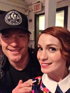 RT@feliciaday At the Supernatural 200 party, and found @TahmohPenikett!