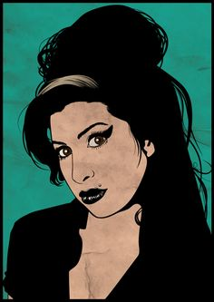RIP Amy Winehouse, your Back to Black album touched me and helped me mend. Nobody is Perfect Amy Winehouse, Scary Mary, Sparrow Art, Music Notes Art, Posca Art, Lana Del Ray, Outline Drawings, Comics Girls, Monster High Dolls