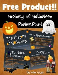 """FREE SOCIAL STUDIES LESSON - """"History of Halloween"""" - Go to The Best of Teacher Entrepreneurs for this and hundreds of free lessons. 4th - 12th Grade http://www.thebestofteacherentrepreneurs.net/2017/09/free-social-studies-lesson-history-of.html"""