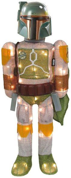 Kurt Adler 28 Star Wars Boba Fett Lighted Tinsel Decor