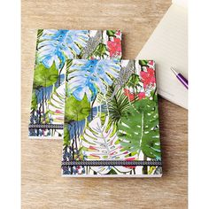 Christian Lacroix Large Exo-Chic Notebooks (180 BRL) ❤ liked on Polyvore featuring home, home decor, stationery and multi colors