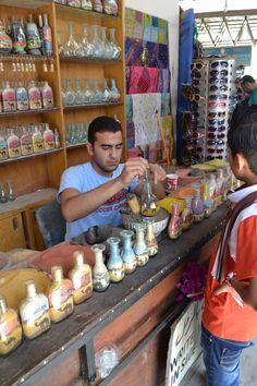 Sand bottles at a shop in Jerash. See the tour of Jerash...